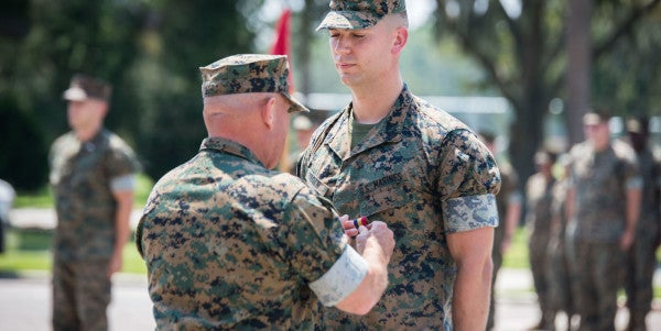 This Parris Island Marine Sprinted Into Oncoming Traffic To Save A Man's Life
