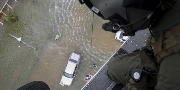 Aboard The Navy Rescue Helos Scrambling To Keep Pace With Harvey