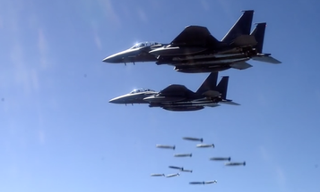 Watch The US And Its Allies Bomb The Hell Out Of A Mountain In South Korea