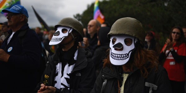 Thousands Turn Out For Protest Against Ramstein Air Base Operations