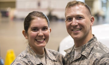 Air National Guard Couple Wed In Uniform Amid Hurricane Irma Rescue Operations