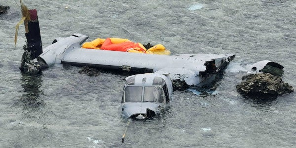 Marine Corps Says Pilot Error To Blame For Osprey Crash Off Okinawa In December