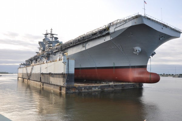 Navy To Christen USS Tripoli — A Ship That Will Pack Helos, F-35s, And Thousands Of Marines
