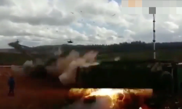 Insane Video Appears To Show Russian Helicopter Firing On Crowd During Exercise