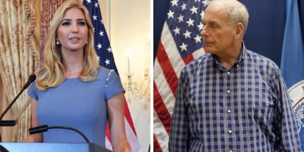 Ivanka Trump Has To Ask John Kelly For Permission To Talk To Trump About White House Matters