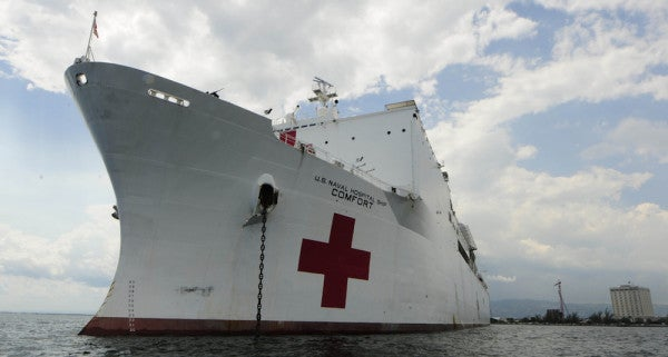 Navy Sends USNS Comfort To Help With Hurricane Relief In Puerto Rico Following Pressure From Clinton