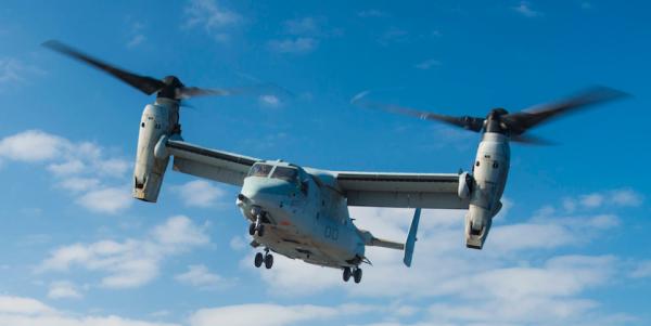 Marine MV-22B Osprey Crashes In Syria, Injuring 2 US Personnel