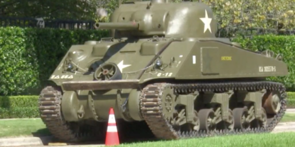 Texas Man Buys Sherman Tank And Parks It In Front Of His House, Upsetting HOA