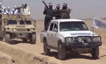 Propaganda Video Shows An Emboldened Taliban Convoying Through Nimruz Province In Broad Daylight