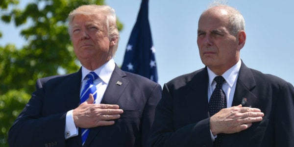 Trump On Chief Of Staff John Kelly: He'll Be Here For The Next 7 Years