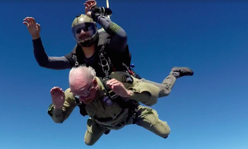 World War II Vet Celebrates 95th Birthday With A Little Skydiving