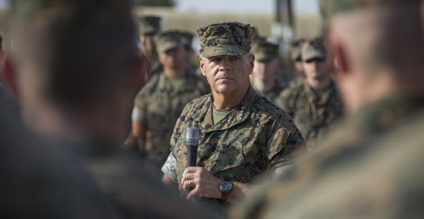 Marine Corps Tweets Commandant Asking For A Pass, Commandant Tweets His Answer
