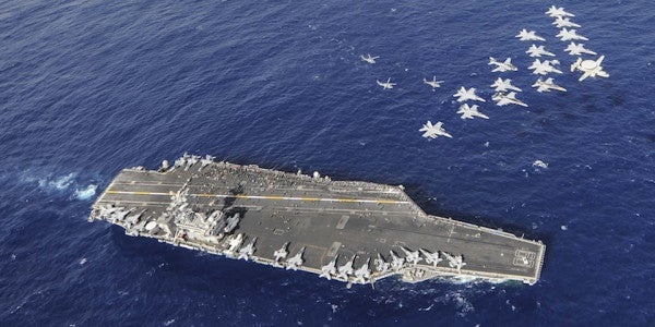 Navy Sends Aircraft Carrier To North Korea After Successful ISIS Mission