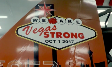 Air Force Unveils 'Vegas Strong' F-15 To Honor Las Vegas Shooting Victims