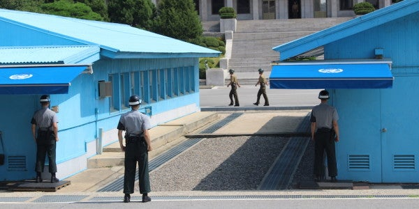 North Korean Soldier Shot By Comrades Along DMZ While Defecting To South