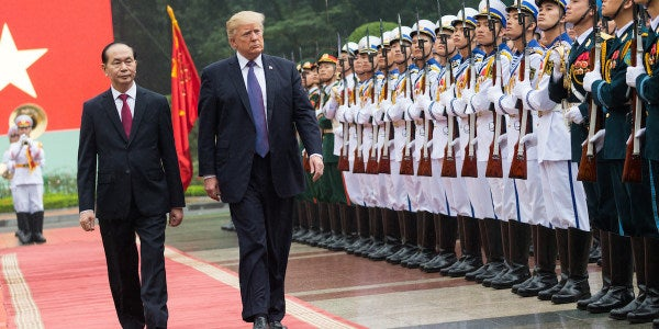 White House Military Personnel Removed After Having Improper Contact With Foreign Women During Trump's Asia Trip
