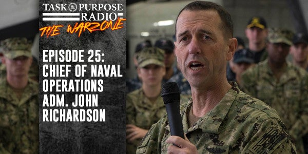 The Navy's Top Admiral Opens Up About North Korea, The New Slogan, And Pepper Spray