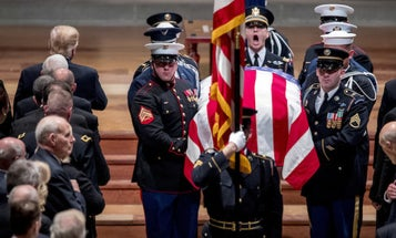 Former President George H.W. Bush Honored As 'America's Last, Great Soldier Statesman'