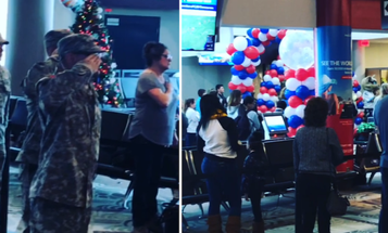 Watch Airport Travelers Stop To Sing 'Star Spangled Banner' To The Children Of Fallen Service Members