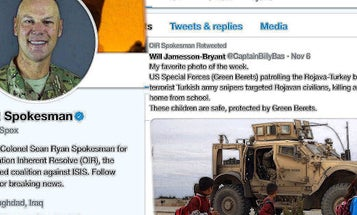 Inherent Resolve Spokesman Apologizes For Sharing Tweet Mentioning 'Terrorist Turkish Army Snipers'