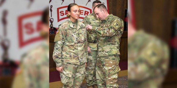 First Female Enlisted Soldier Graduates from Sapper School