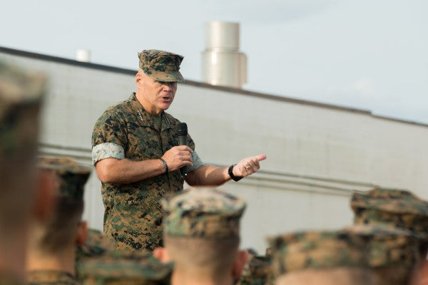 Marine Commandant Says He Has 'No Idea' On Troop Withdrawal Specifics