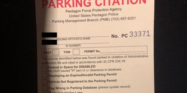 This Is How I Inadvertently Angered The Pentagon Parking Gods