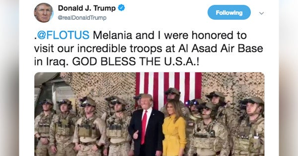 These Troops Hanging With President Trump In Iraq Are Ready To F*cking Operate, Bro