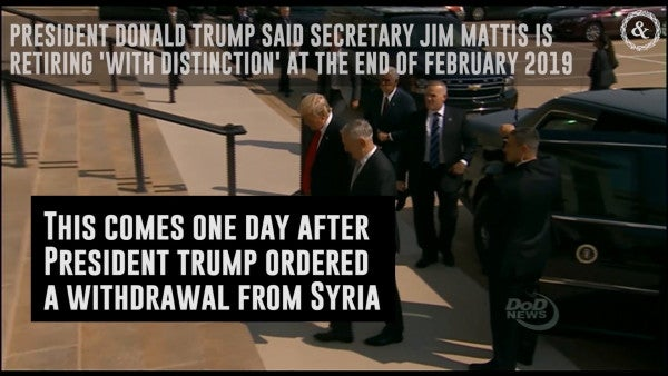 Trump Says He 'Essentially Fired' Mattis, Who Literally Handed Him A Letter Of Resignation