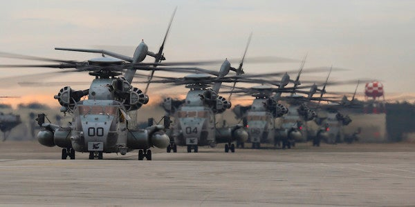 Marine Corps aircrew safe after helicopter catches fire mid-flight