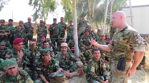 Training With Peshmerga Forces In Iraq