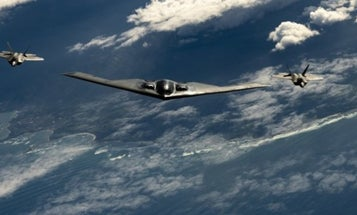 Air Force F-22s And B-2 Bombers Are Prowling The Pacific, And The Photos Are Awesome
