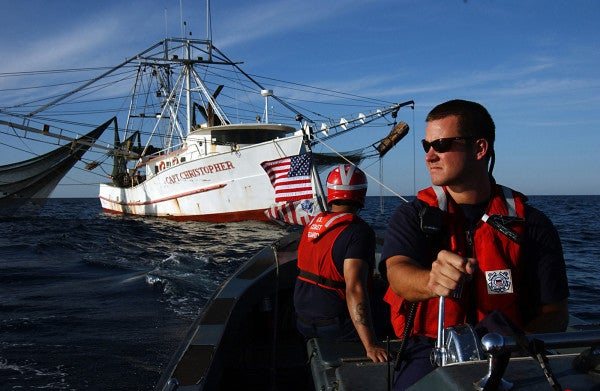 Boat Captain Radios Coast Guard: 'We Appreciate You Guys Being There Without Pay'