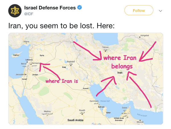 Israel To Iran: Too Close For Missiles, I'm Switching To Tweets
