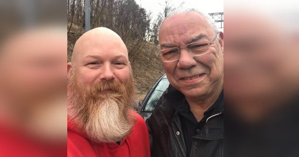 We Salute The Wounded Warrior Who Helped Gen. Colin Powell After His Tire Blew On The Way To Walter Reed