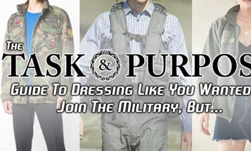How to dress like you 'wanted to join the military, but…'