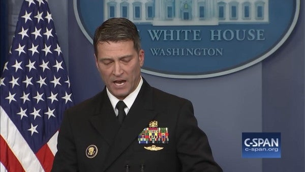 Trump Nominates White House Doctor Ronny Jackson For 2nd Star, Despite Ongoing Investigation
