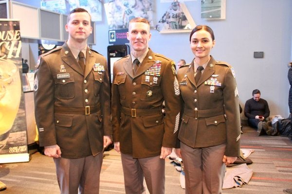 Army recruiters will be the only ones rocking the new 'pink and greens' uniform for a while
