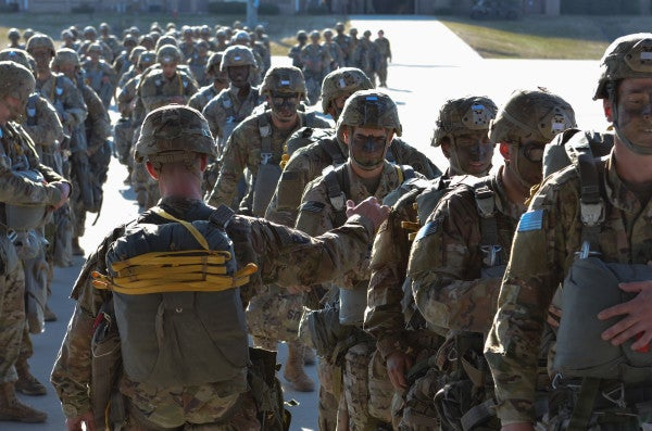 Like father, like son: 82nd Airborne soldiers jump together at Fort Bragg