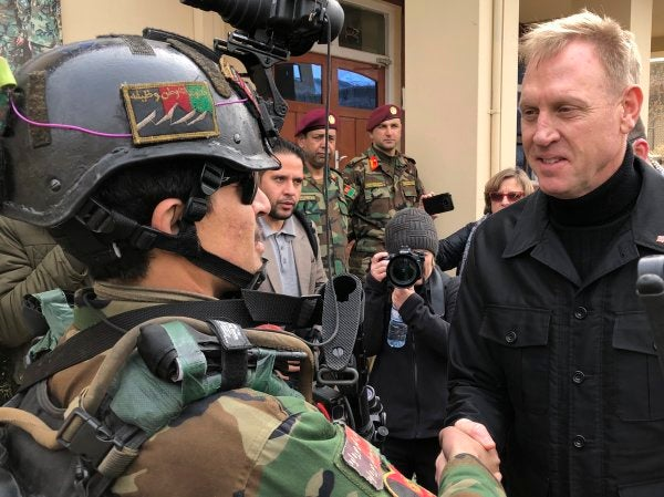 Acting Defense Secretary Shanahan showed up to Afghanistan looking like a Bond villain