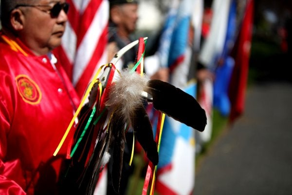 We salute the Native American warriors who go wherever they're needed to honor US military veterans