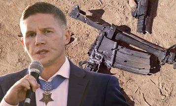 This is all that was left of Kyle Carpenter's M4 after the attack that led to his Medal of Honor