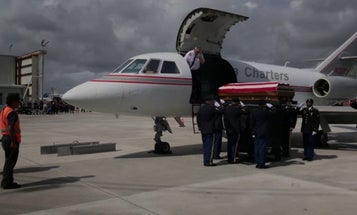 Decorated soldier slain in Syria suicide bombing returns home to a hero's welcome