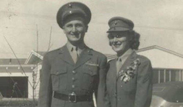 2 Marines met in a burger joint during World War II. Their 75th wedding anniversary is Saturday