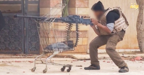 This ISIS fighter made a technical out of a shopping cart