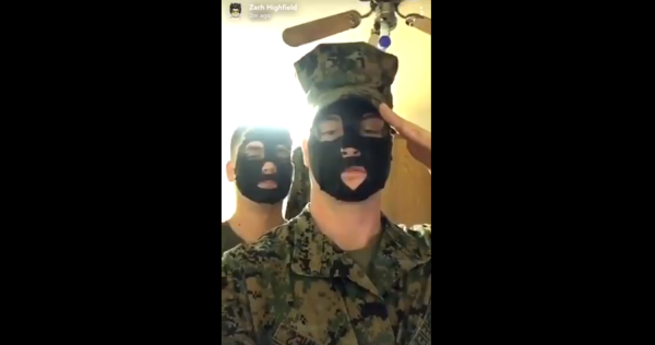 The Corps is investigating a pair of Marines over a racist Snapchat video
