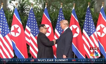 Trump says no deal on North Korean nukes, but at least he and Kim Jong Un still like each other