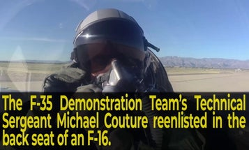 Watch an Air Force tech sergeant reenlist in the backseat of an F-16