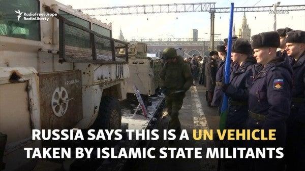 Inside Russia's propaganda train of 'Syrian war trophies'