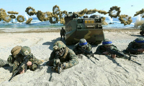US-South Korea military exercises used to involve thousands of troops. Now it's officers in front of computers